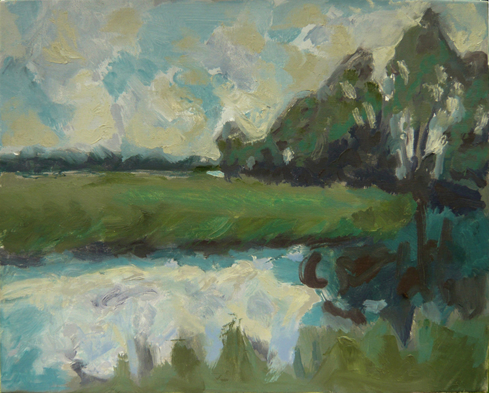 The Waveney at Target Hill, 2006, oil on canvas, 51 x 40.5cm