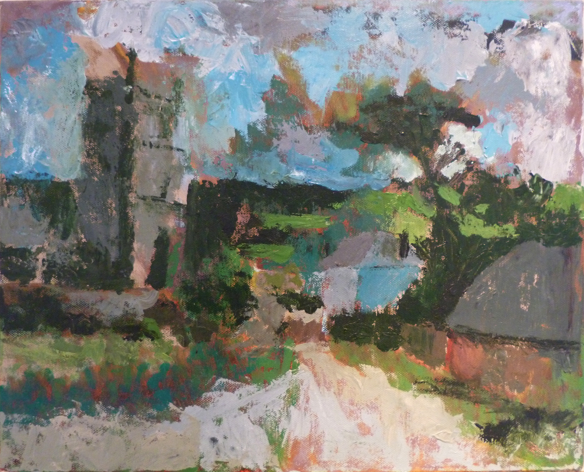 Zennor, Acrylic on canvas, 2015, 20 x 16 in