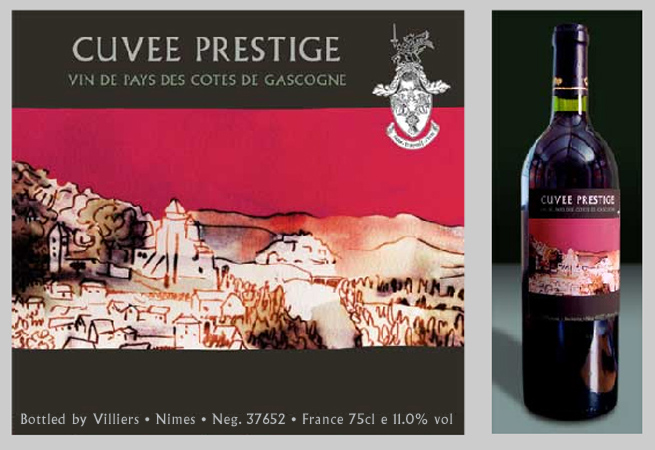 Development project - wine label for Cuvee Prestige