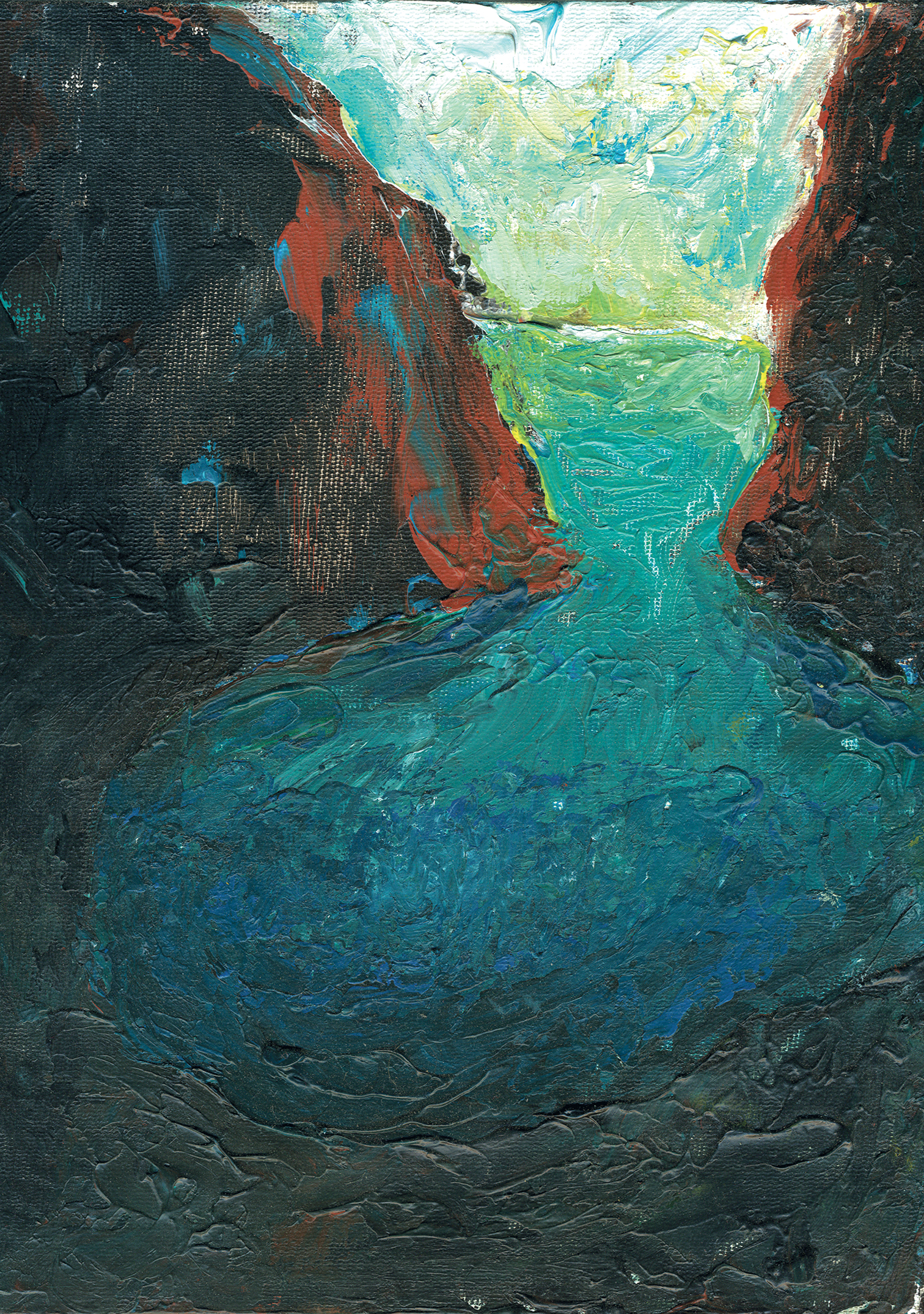 Cove, 2003, Acrylic on canvas board, 20 x 25cm
