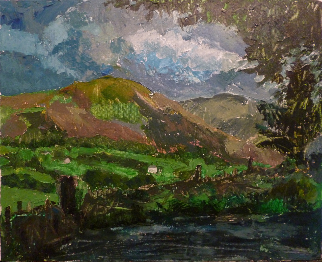 Lake District, 2016, acrylic on canvas, 20 x 16 in