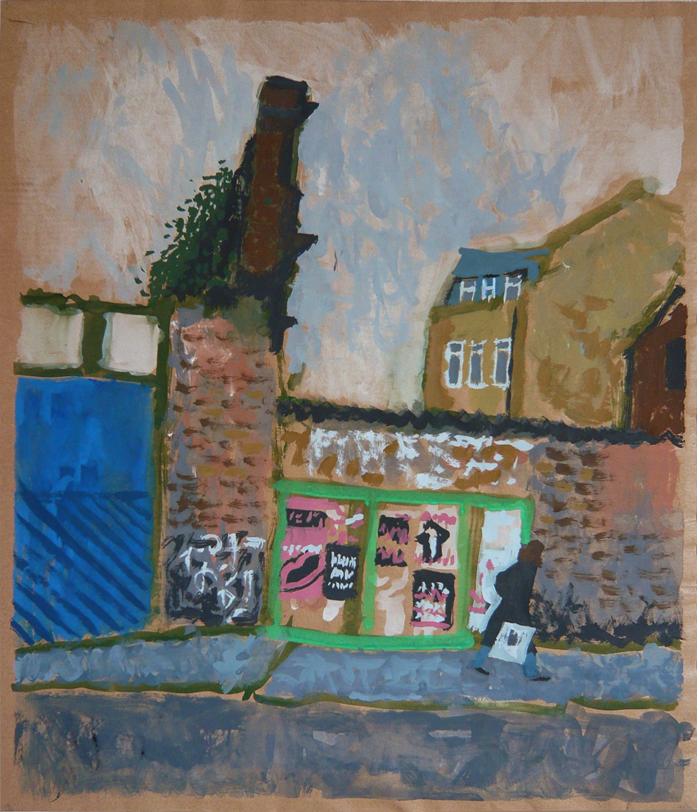 Brick Lane, gouache on paper, 2012