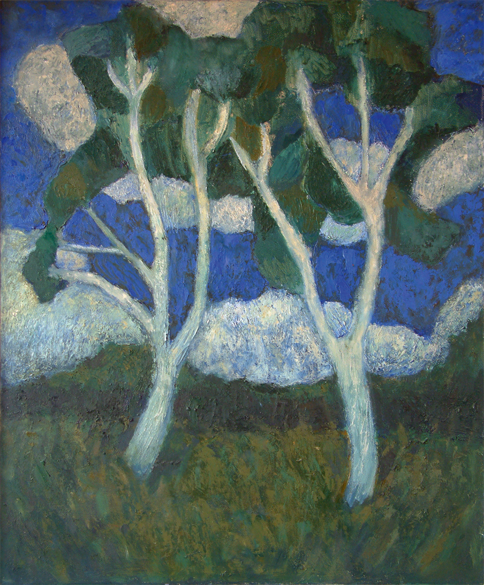 Luke Florio, Two Trees, 2009, Oil on canvas, 61 x 76cm