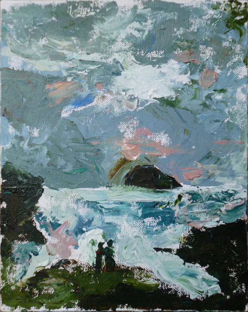 Trebarwith Strand, 2015, acrylic on canvas, 10 x 8 in
