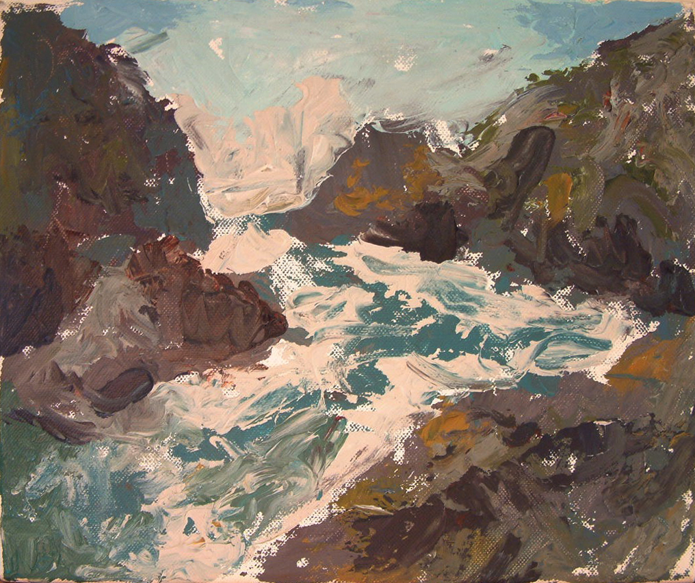 Mullion Cove, acrylic on canvas, 2015, 12 x 10 in