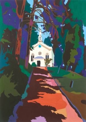 Holy Trinity church, Slad, 2014, gouache on paper