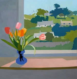 Tulips, 2014, gouache on paper