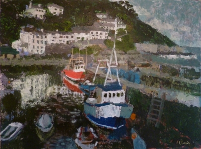 Polperro, 2016, Acrylic on canvas, 24 x 18 in