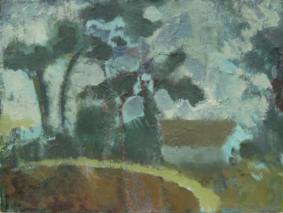 Fen Street, Redgrave, 2005, Oil on canvas board, 40.5 x 30.5cm