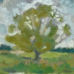 Willow on the Waveney, 2006, oil on canvas, 40 x 56cm